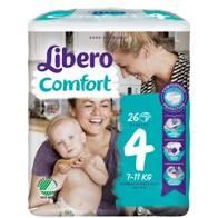 LIBERO COMFORT 4  7-11kg x26pz
