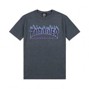 T-Shirt Thrasher Flame Logo Dark Heather