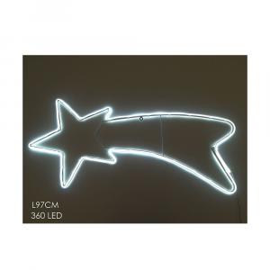 Stella Cometa con 360 Led Neon 97x42 cm
