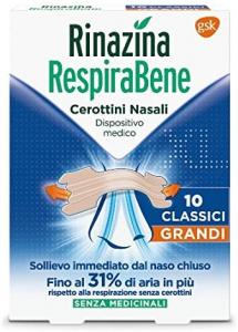 Rinazina respirabene cerotti nasali classici grandi 10pz