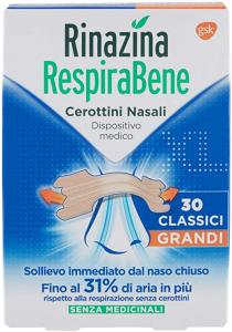 RINAZINA RESPIRABENE 30 CEROTTINI NASALI CLASSICI GRANDI