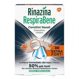 Rinazina Respirabene Extra Forti 30 Cerotti Nasali