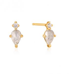 Gold Midnight Stud Earrings