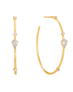 Orecchini Gold Midnight Hoop