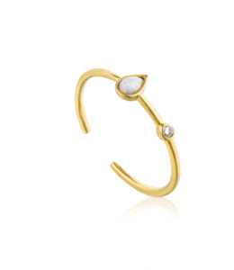 Anello Opal Colour Raindrop Adjustable Gold