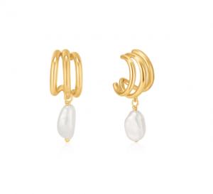 Gold Triple Mini Hoop Earrings