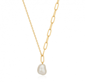 Gold Pearl Chunky Necklace