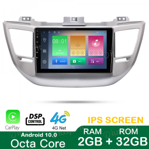 ANDROID 10 autoradio navigatore per Hyundai Tucson 3 2015-2018 GPS USB WI-FI Car Play Bluetooth Mirrorlink 4G LTE