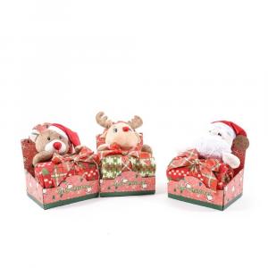 Coperta con personaggi natalizi assortiti  90x75 cm