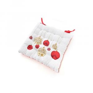 Cuscino in Cotone per Sedia 40x40cm decoro natalizio