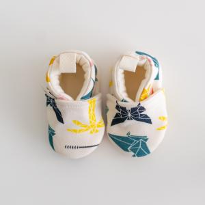 Scarpine neonato fantasia origami in cotone biologico