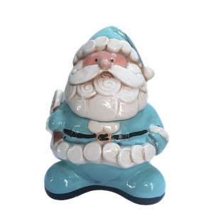 Porta biscotti barattolo a forma di Babbo Natale ceramica