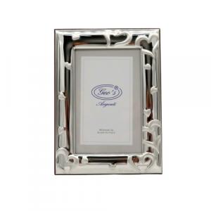 Geo's portafoto bilaminato argento decoro cuori 10x15cm