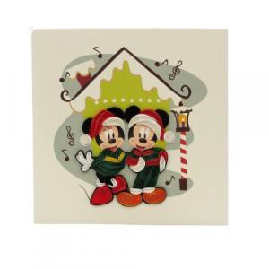 Biglietto augurale papero e paperina Natale in filigrana di carta