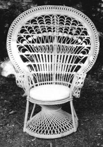 Seduta in rattan natural intrecciata a mano