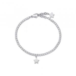 Bracciale donna Luca Barra con stella e cristalli bianchi