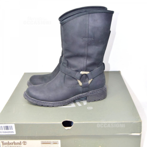 Boots Woman Timberland Black N° 37.5 Like Nuovi