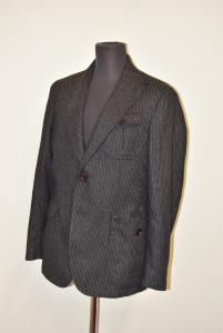 Jacket Man Seventy Grey Gessata Size 52 100%lambswool