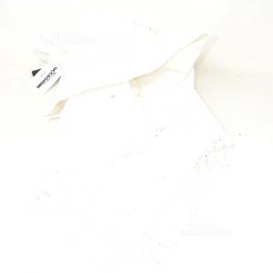 Centrino Fatto A Mano Made In Italy 80x80 Cm Bianco