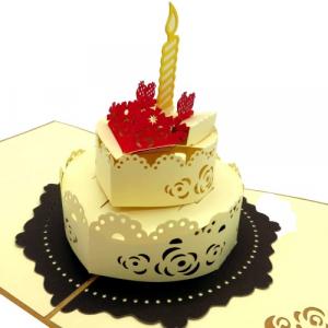 Biglietto augurale torta di compleanno Origamo