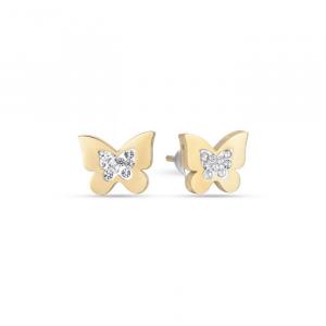 Orecchini donna Luca Barra con farfalle e glitter