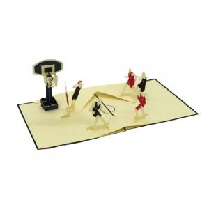 Biglietto augurale gioco Basket Origamo