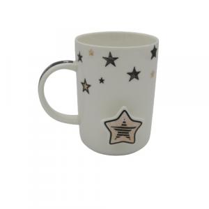 Tazza in porcellana mug decoro stella