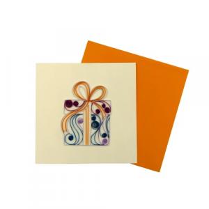 Biglietto augurale pacchetti regalo origamo di carta con busta