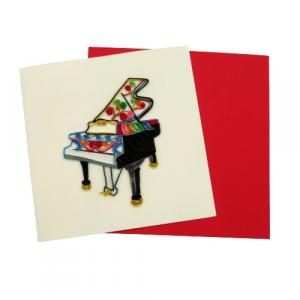 Biglietto pianoforte colorato filigrana