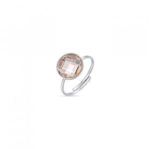 Anello donna Luca Barra con pietra rosa pesca