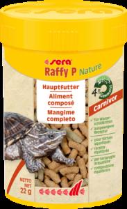 Sera Raffy P Nature 250ml (55g) per tartarughe acquatiche e rettili carnivori