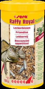 Sera Raffy Royal Nature pesci essiccati per tartarughe acquatiche, anfibi e grandi rettili carnivori 1000ml