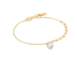 Gold Pearl Chunky Bracelet