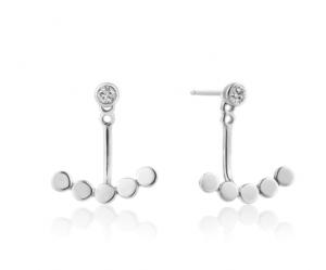 Silver Shimmer Ear Jackets