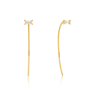 Gold Glow Solid Drop Earrings