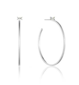 Silver Glow Hoop Earrings