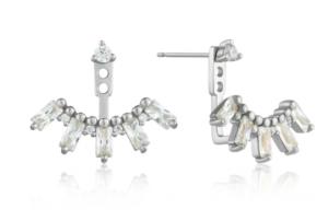 Silver Cluster Ear Jackets