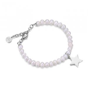 Bracciale donna Luca Barra con perle e stella