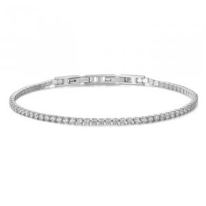 Bracciale unisex Luca Barra tennis con cristalli bianchi