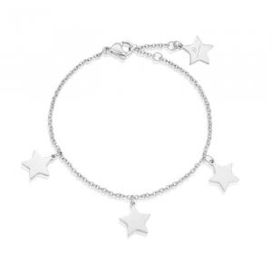 Luca Barra - Bracciale in acciaio con stelle.