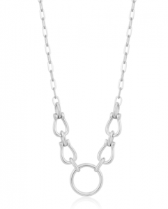 Silver Horseshoe Link Necklace