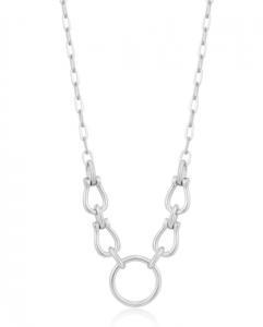 Silver Horseshoe Link Necklace
