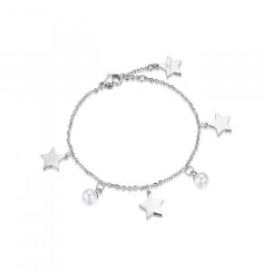 Bracciale donna Luca Barra con stelle e perle bianche