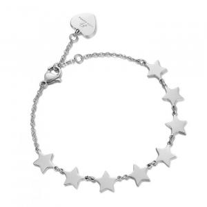 Luca Barra - Bracciale in acciaio con stelle in acciaio.