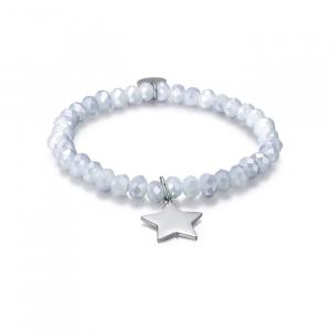 Bracciale donna Luca Barra con cristalli e stella