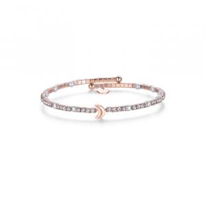 Bracciale donna Luca Barra con luna, perle e cristalli bianchi