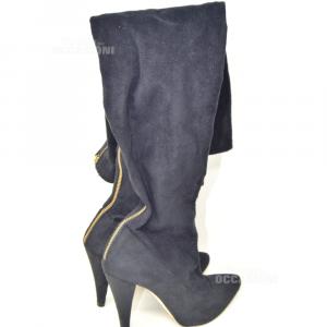 Boots Woman Black Scamoscaito Elisabetta Franchi N° 38