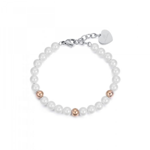 Bracciale donna Luca Barra con perle
