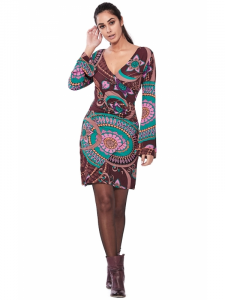 Vestito etnico manica lunga | Collezione Baba Design shop online