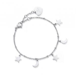 Luca Barra - Bracciale in acciaio con stelle e lune